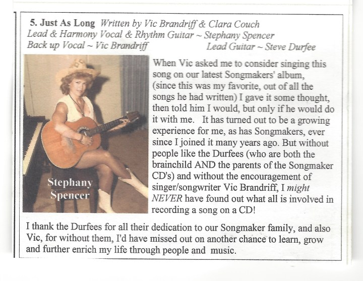 My Songmaker CD Blurb -3
